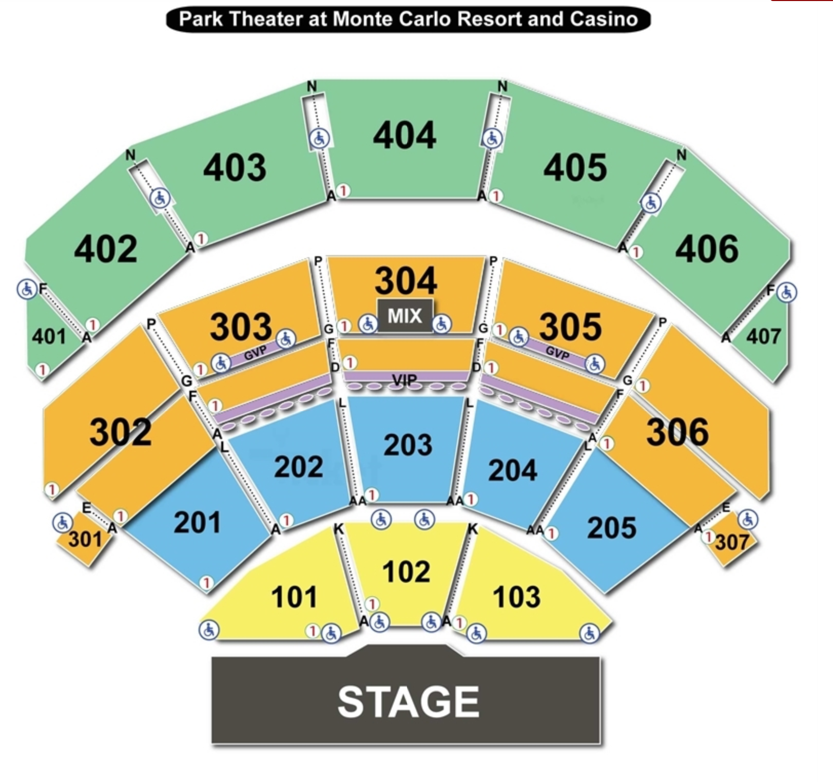 park theater seating chart